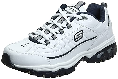 Skechers mens Energy Afterburn road running shoes, White/Navy,13 2E