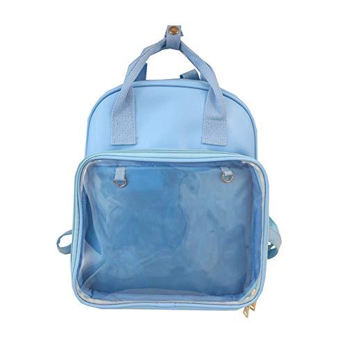 BCXS Hochleistungs-Klarsichtrucksack für schulverstärkte Schüler Büchertasche Fit Laptop Safety Travel Rucksack,Blau