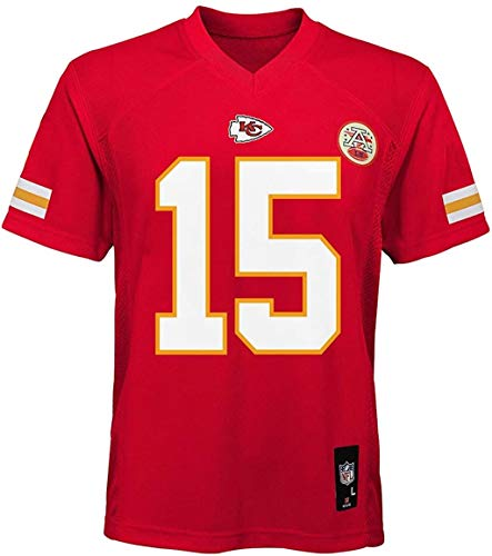Outerstuff Patrick Mahomes Kansas City Chiefs NFL Kids 4-7 Red Home Mid-Tier Jersey (4)