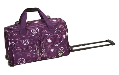 Rockland Rolling Duffel Bag, Purple Pearl, 22-Inch