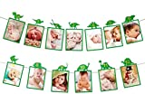 E&L Green Dinosaur Photo Banner, Sweet Heart First Birthday Photo Banner, Justborn to 12 Months Photo Banner, Dinosaur Party Supplies, The First Birthday Party Decorations, PRE-Strung