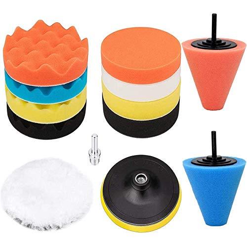 Gaoominy Polishing Sponge Pad Kit, Wheel Buffer Polisher Foam Ball Suitable for Cars, Wheel Care, Metal, Plastic and Glass