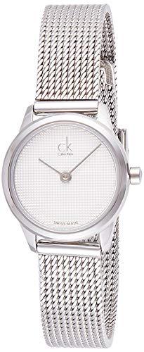 Calvin Klein Damen Analog Quarz Uhr mit Edelstahl Armband K3M2312Y