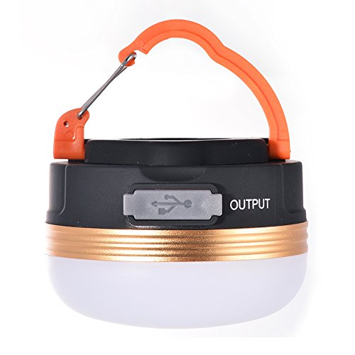 Dupelec 2 in 1 Camping Tent Light Power Bank Charger, Portable LED Magnetic Hanging Lantern,Small USB Lamp with Hook,Ideal for Emergency Camping Hiking Fishing Cycling Trip Reading Festivals.