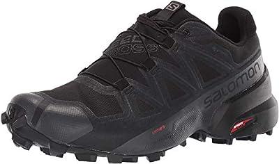 Salomon Men's Speedcross 5 GTX Trail Running, Black/Black/Phantom, 11.5