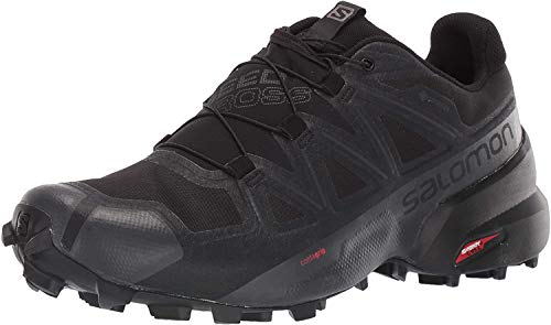Salomon Men's Speedcross 5 GTX Trail Running, Black/Black/Phantom, 10