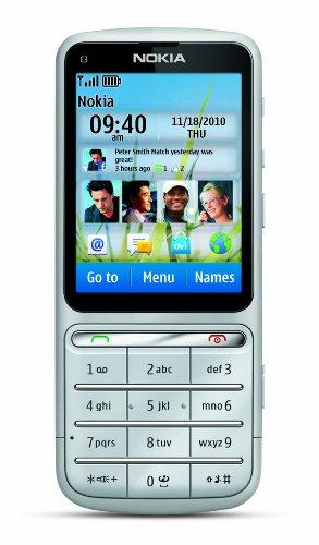 Nokia C3-01 Grafite, Silber Touch and Type ohne Simlock, 5 MP, NEU und OVP