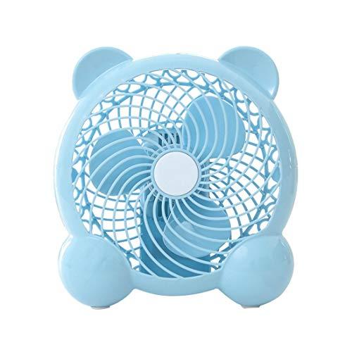De enige goede kwaliteit XinMeiMaoYi Mini ventilator Cartoon stijl USB student slaapzaal kantoor Draagbare Panda vorm Blauw elektrische ventilator 7 inch afkoelen