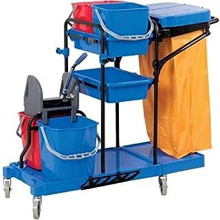 Chariot de ménage 4 seaux avec presse - Brosserie Marchand
