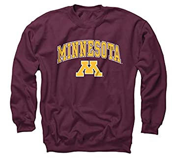 Campus Colors Adult Arch & Logo Soft Style Gameday Crewneck Sweatshirt  Minnesota Golden Gophers - Red Small
