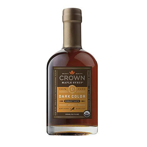 Crown Maple Dark Color Robust Taste Organic Maple Syrup 12.7 Fl Oz