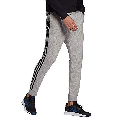 adidas GK8824 M 3S FL TC PT Pants Mens Medium Grey Heather/Black L