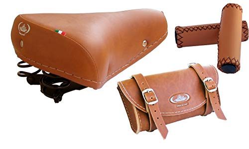 Tris Montegrappa (Miele): Vintage Sattel Mod. 07/F + Griffe + Tasche MOD. 0016