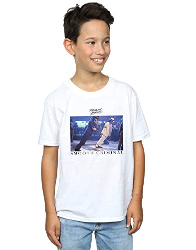 Michael Jackson Niños Smooth Criminal Lean Camiseta Blanco 9-11 Years