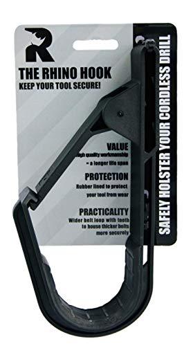 The Rhino Hook ™ - Supporto porta attrezzi universale per cintura, per trapano / avvitatore cordless, articolo alternativo alla fondina