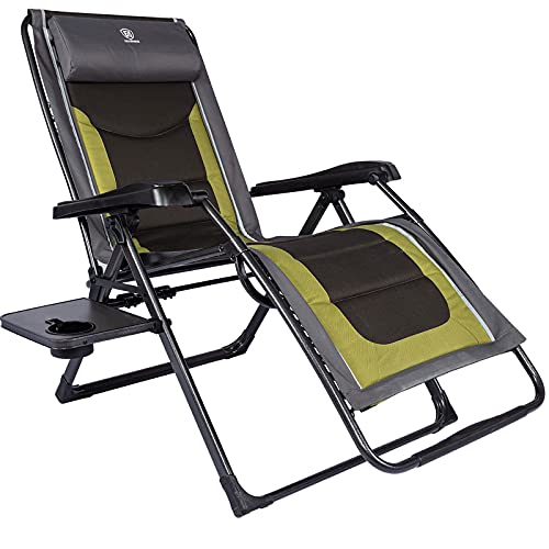 EVER ADVANCED Oversized Zero Gravity Chair, Cushioned XL Folding Lounge Recliner with Adjustable...