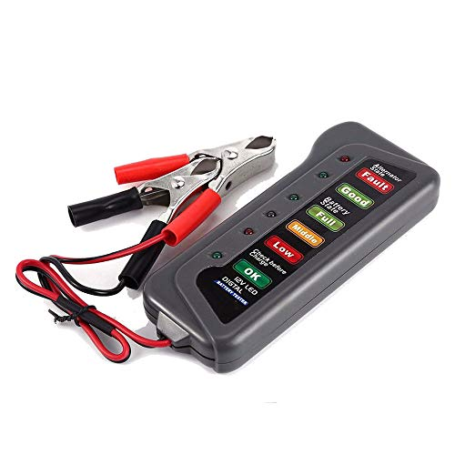 YA-Uzeun - Alternador de batería Digital para Coche (12 V, 6 Luces LED, Herramienta de diagnóstico)