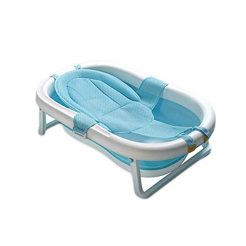 LNDDP Free-Standing Tub, Bathtub Newborn Folding, Portable Baby Bath, Home Drain, Removable Bath Network Design, PP TPE, 0-6 Years Old, Best Gifts