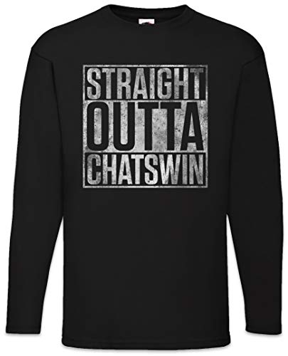 Urban Backwoods Straight Outta Chatswin Heren T-Shirt Met Lange Mouwen