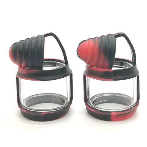 Black-Red Silicone Anti Slip Band Rings Attached Drip Tip Cover for Prince Bulb Glass Protection Skin