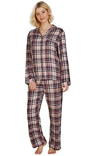 Conjunto Pijama Manga Larga Mujer - Botones - Estampado