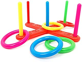 ReallyGO-US Direct Hoop Ring Toss Plastic Ring Toss Quoits Garden Game Pool Toy Outdoor Fun Set New 15.743.143.14 Inch