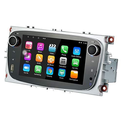 Car Android Radio 8.1 Apto para Ford Focus Mondeo Galaxy S-MAX 2GB RAM 16G ROM Octa Core Indash 7 Pantalla Control táctil Capacitivo GPS Bluetooth Unidad Principal con Control del Volante WiFi