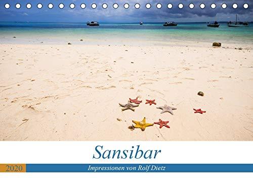 Sansibar - Impressionen von Rolf Dietz (Tischkalender 2020 DIN A5 quer): Strände wie aus einem Traum (Monatskalender, 14 Seiten ) (CALVENDO Orte)