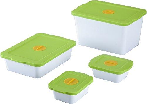 Breere™ Bio-Frischhalteboxen, Frischhaltedose, 4-er Set, grün, Aufbewahrungsdose, Vorratsdose