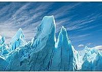HD 7x5ft氷河の写真撮影の背景氷河のシーン17クリフクリスタルクリアブルーの自然風景写真冬凍結された世界テーマパーティーの背景写真撮影用ポートレートフォトスタジオの小道具