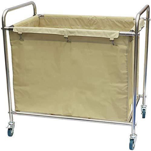 Dljyy Cart, Medical Cart, eetwagen, recoger, Medical wagen, hotelwagen, wagentje voor Lobby, wasmachine, met universele remwiel, kamerservice rolwagen, afneembare afdekking, bruin