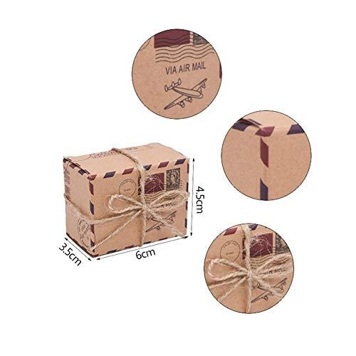 LOOEST 10/20 / 30pcs Mini Maleta Cajas del Caramelo de Recorrido de la Caja de Regalo de Papel Boda cumpleaños de la Navidad del Favor de Las Cajas de Embalaje Actuales Gift