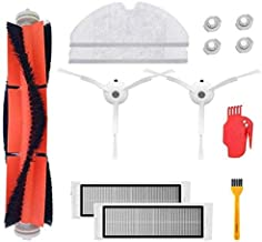 Mountain god Replacement Parts Kit - 1 Main Brush 2 Filters 2 Side Brushes 2 Mopping Cloth 4 Water Tank Filter for XIAOMI S5 S50 S52 - Vacuum Cleaner XIAOMI Replenishment Accessory