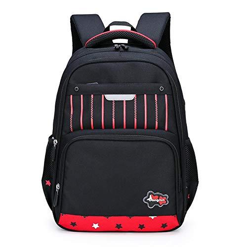 XMXYLP Sac à Dos Universel étanche pour l'école de Voyage en Plein air Sac à Dos pour Enfants Check Backpack, Noir