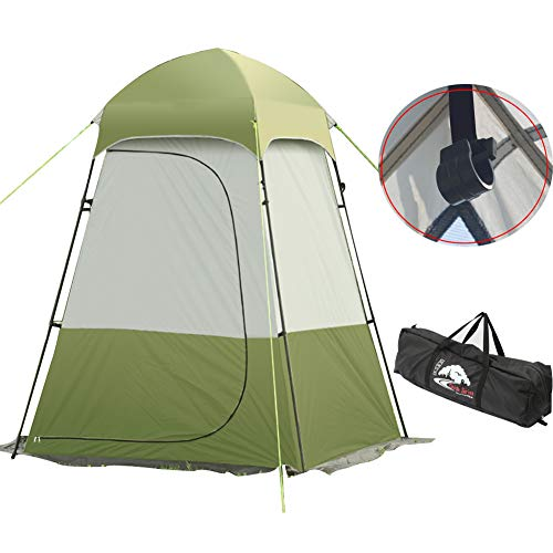 Toilet Tent Camping Shower Privacy Tent (Maximum Load 44 Pounds) With Water Bag Hook For Privacy Tent Oxford Cloth Green
