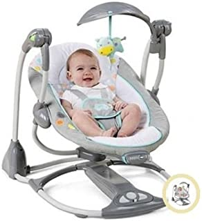 New Portable Ingenuity ConvertMe Swing-2-Seat Swing for Baby   Machine Washable Seat Pad & Head Support   Swing Timer & WhisperQuietTM Operation