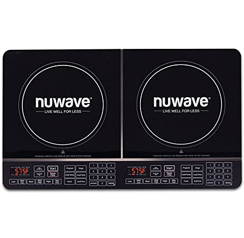 NuWave Precision Induction Cooktop Double 1800-watt Induction Cooktop with Fast, Safe, Powerful Induction Cooking Technology & Advanced Cooking Functions