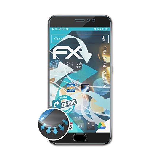 atFolix Schutzfolie kompatibel mit Meizu Pro 6 Plus Folie, ultraklare & Flexible FX Bildschirmschutzfolie (3X)