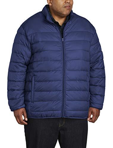 Amazon Essentials Men's Big & Tall Lightweight Water-Resistant Packable Puffer Jacket, Navy, 4X