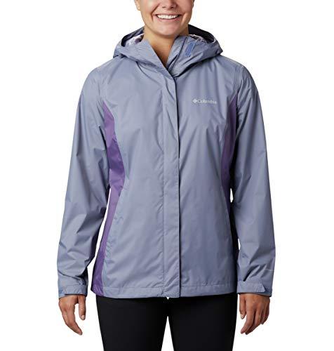 Columbia Arcadia II Hooded Jacket, Waterproof And Breathable Giacca Impermeabile, Nuova Luna/Viola Prugna, 1X Donna