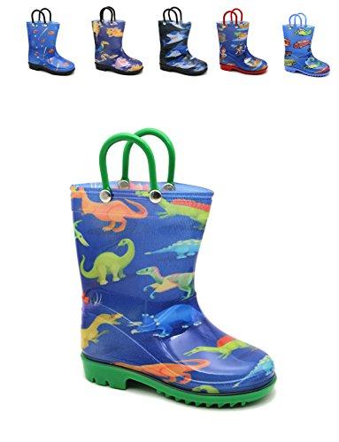Storm Kidz Kids Boys Printed Rainboots, Dinosaurs Little Kid 1