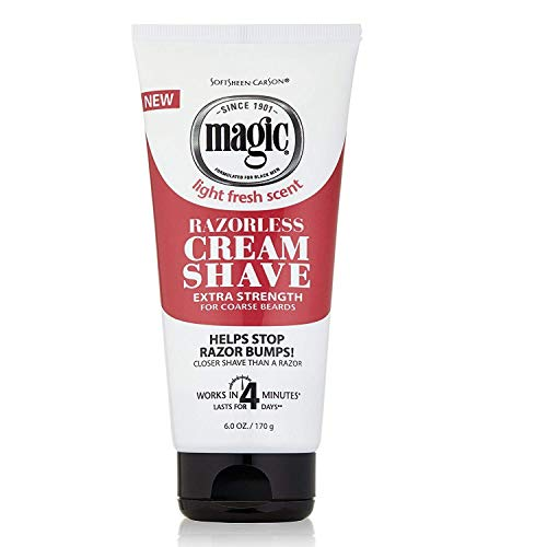 MAGIC Razorless Cream Shave Extra Strength, 6 Ounce, (Pack of 3)