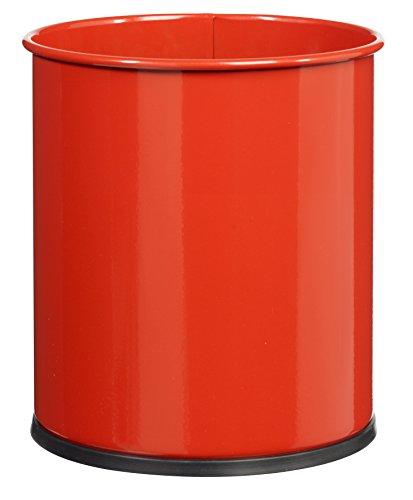 ROSSIGNOL Papea Corbeille A Papier Metal-15L Rouge, Acier, 27x27x30 cm