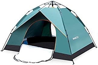 MIABOO Camping Tent, 3-4 Person Family Beach Tent,...