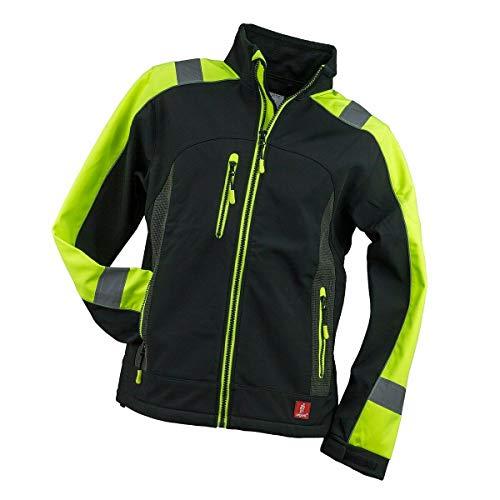 K&G Softshelljacke Urgent GL836444 Schwarz mit gelb Arbeitsjacke Softshell Jacke Berufsjacke Warnjacke Schutzjacke Herrenjacke (2XL)
