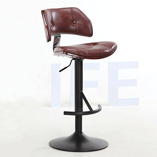 QZz Hauteur réglable, chaise pivotante, haut tabouret, chaise longue, hauteur de bloc 55-75CM (Couleur : Marron)