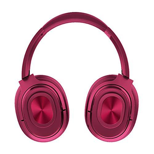 PsetYsail Casque sans Fil Gaming Gaming Casques avec Microphone Anti-Bruit Mic Ergonomique en Mousse À Mémoire Coquilles,Rouge