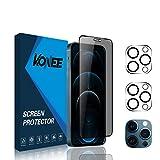 KONEE [1 + 2 Piezas] Protector de Pantalla de Privacidad + 2 Piezas Protector de Lente de Cámara Compatible con iPhone...