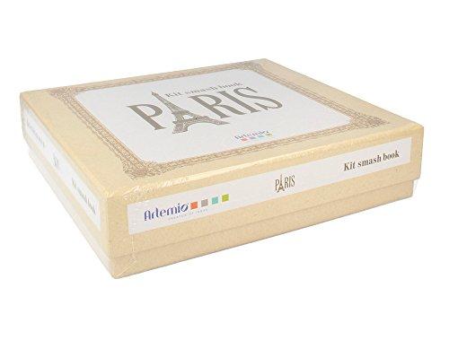 Artemio 11002257 Kit Album à Spirales Paris 20x20 cm, Beige, 20 x 20 cm