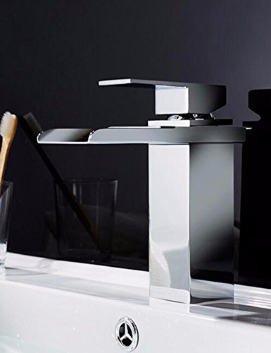 Great Features Of Modern Simple Brass Constructed Polished Hot And Cold Basin Sink Faucet Bathroom S...